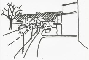 Das Trottoir entlang der  neuen Überbauung Rosenpark hätte auch mit einem Grünstreifen von der stark befahrenen Buechzelglistrasse abgetrennt werden können.