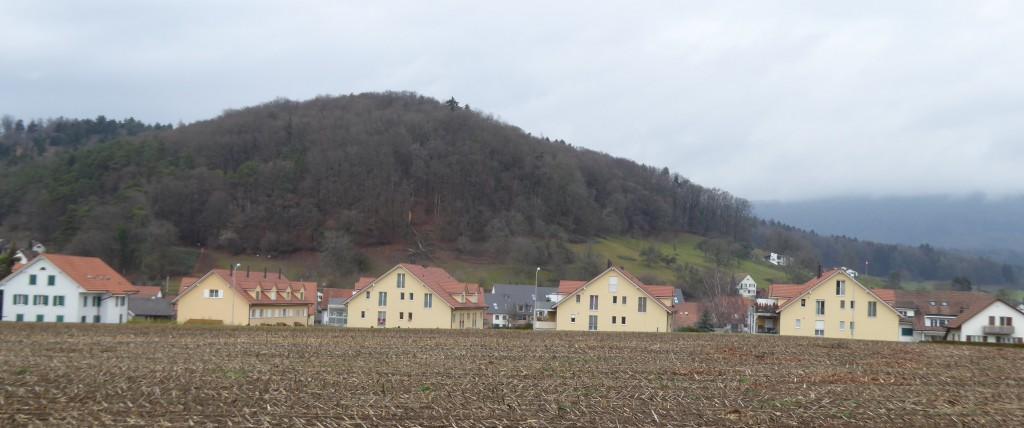 Neubauten an der Schulstrasse in Reih und Glied: Oed und langweilig, als stünden sie in der ehemaligen DDR.