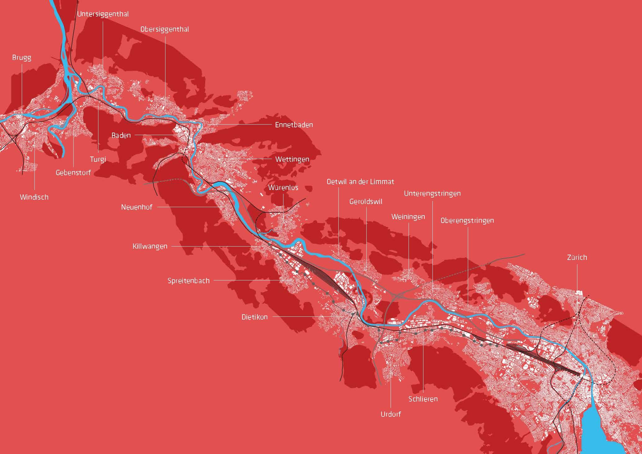 36 Kilometer Limmatstadt – von Zürich bis zum Wasserschloss bei Brugg.